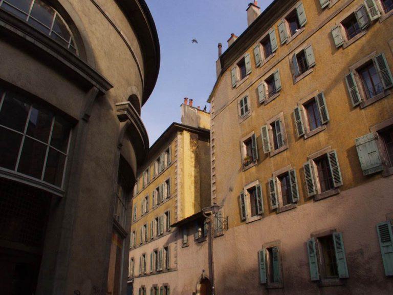 Façade du bâtiment à la rue René Louis Piachaud