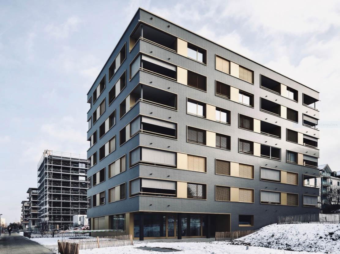 Vue d'ensemble immeuble au Vergers Fondation Nouveau Meyrin
