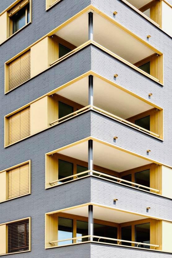Balcons immeuble au Vergers Fondation Nouveau Meyrin