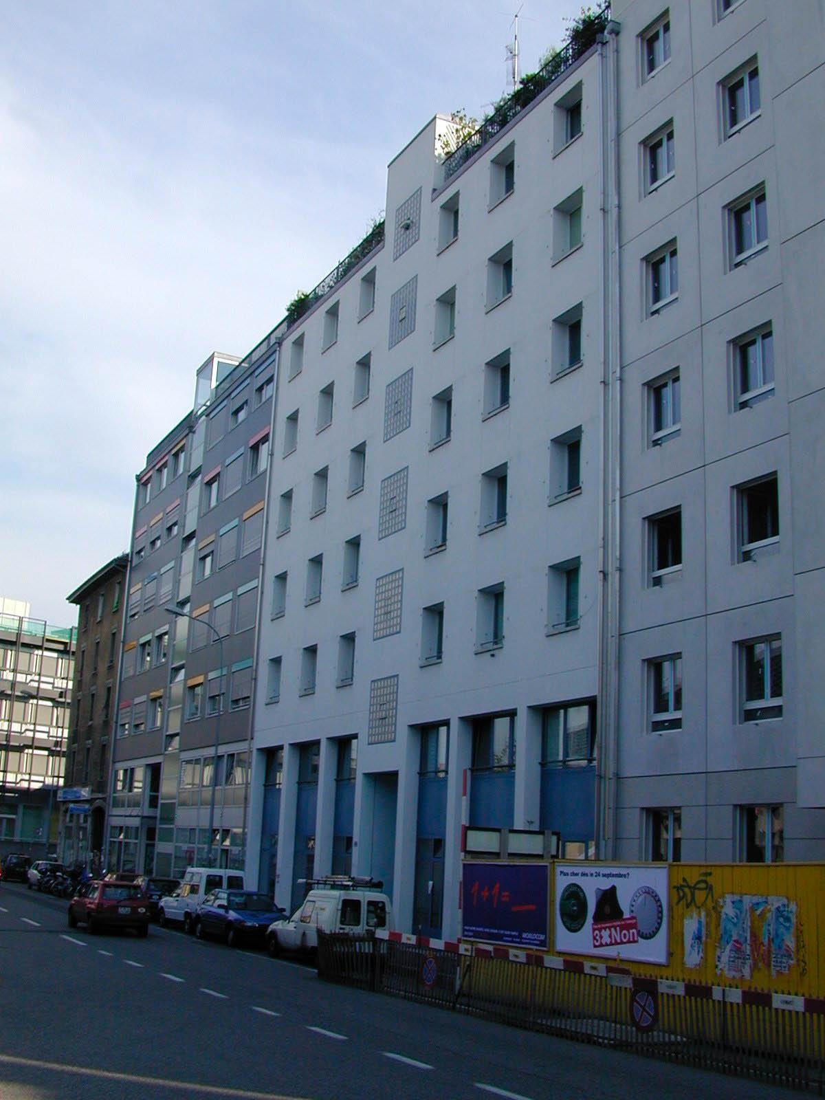 Façade de l'immeuble d'habitation de la coopérativve La Rencontre