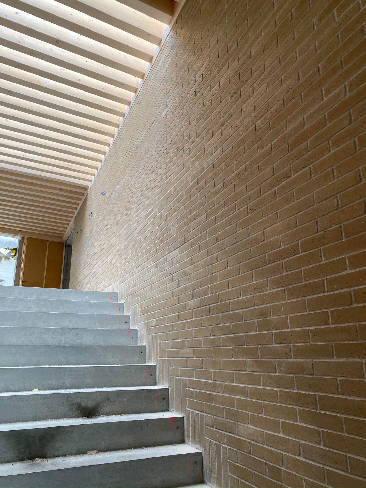 Escaliers inérieurs de l'école de Riaz