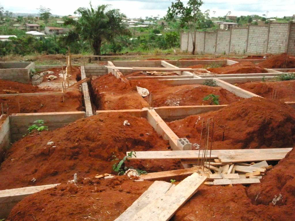 Fondations villa Bediang